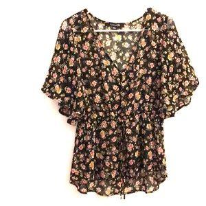 Flouncy floral top